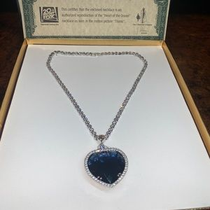 Authentic J. Peterman Heart of the Ocean Necklace